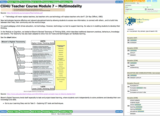 Clil4U CLIL implementation with pools of resources for teachers